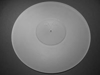 ACRYLIC TURNTABLE MAT colourless-grinded with label recess