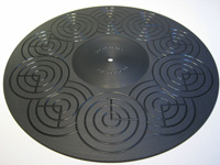 ACRYLIC TURNTABLE MAT black-grinded with label recess and surface-finish