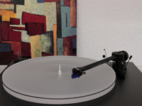ACRYLIC UPGRADE-PLATTER milky-white for turntable Pro-Ject ESSENTIAL