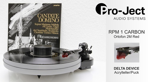 PRO-JECT RPM 1 CARBON + Ortofon 2M Red + DELTA DEVICE UPGRADE | chassis: weiß