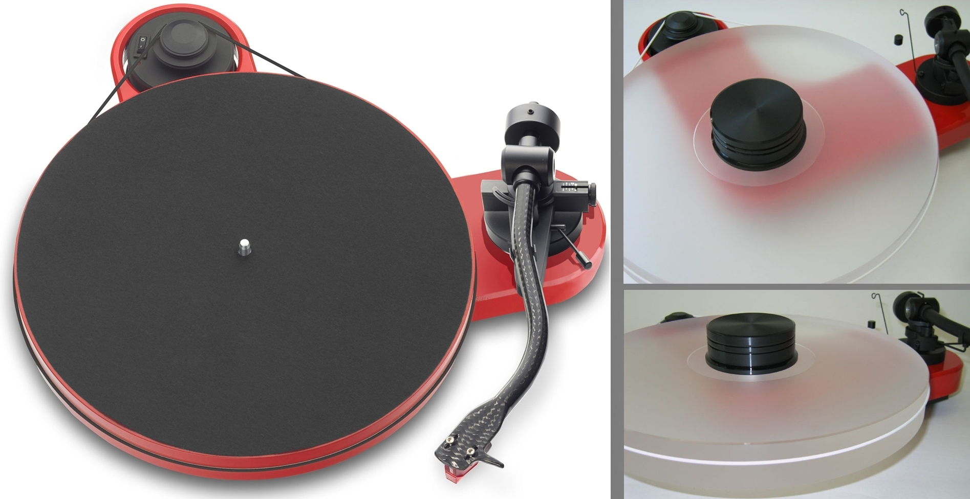 PRO-JECT RPM 1 CARBON turntable + DELTA DEVICE UPGRADE | chassis: red
