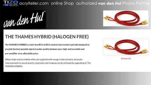 van den Hul | The THAMES HYBRID (Halogen Free) Set RCA | Phono Cable