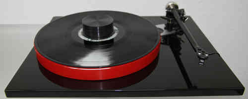 REGA RP6 turntable + DD Acrylic Platter red + Puck