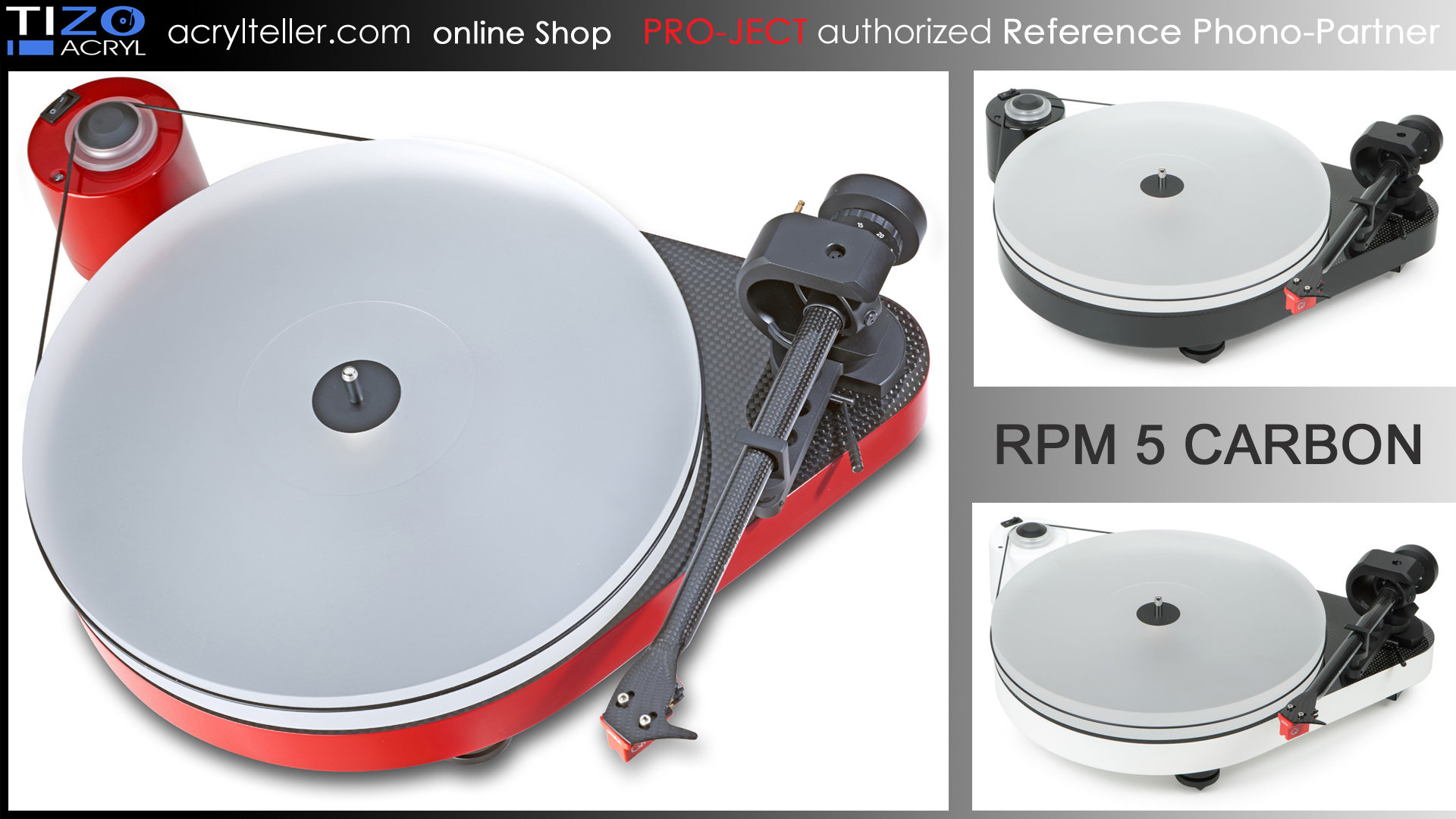 PRO-JECT RPM 5 CARBON turntable incl. DELTA DEVICE Puck