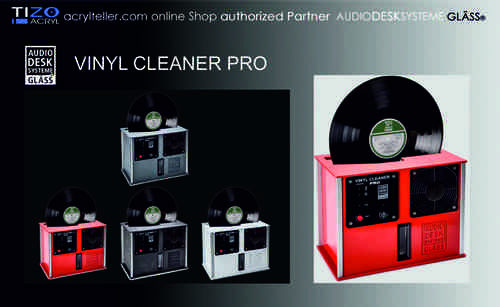 "GLÄSS VINYL CLEANER PRO - LP cleaning machine - cleaning for 12""-records"