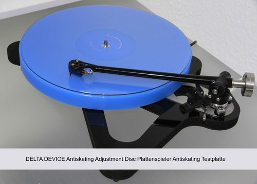 DELTA DEVICE Antiskating Adjustment Disc | Plattenspieler Antiskating Testplatte