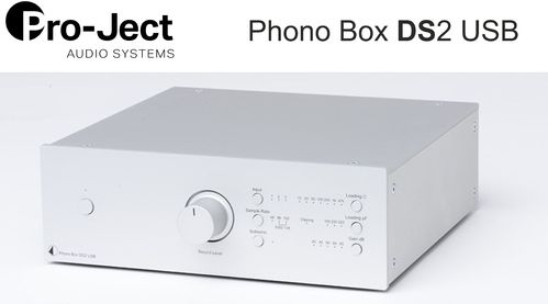 Pro-Ject Phono Box DS2 USB | silver without wooden side panels
