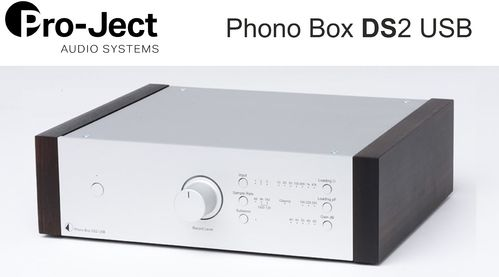 Pro-Ject Phono Box DS2 USB | silver with wooden side panels eucalyptus