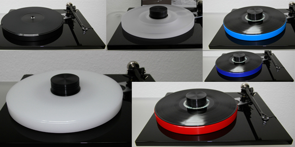 Rega RP 6 turntable with DELTA DEVICE Hifi Tuning - Acrylic Platter and Record Puck | Handmade in Germany