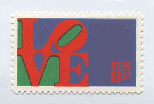 LOVE-Briefmarke postfrisch