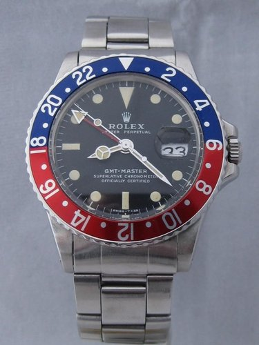 1971 Rolex GMT Master 1675 Pepsi and Black