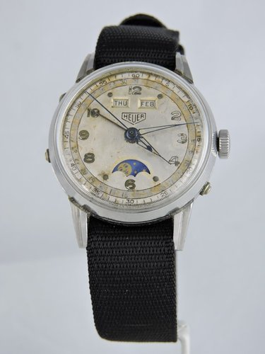 1950s Heuer Moon Phase, Full Calendar Watch