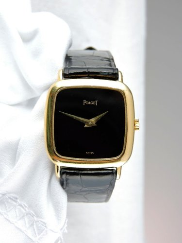 1980s Piaget Black Tie Emperador 18k Ladies