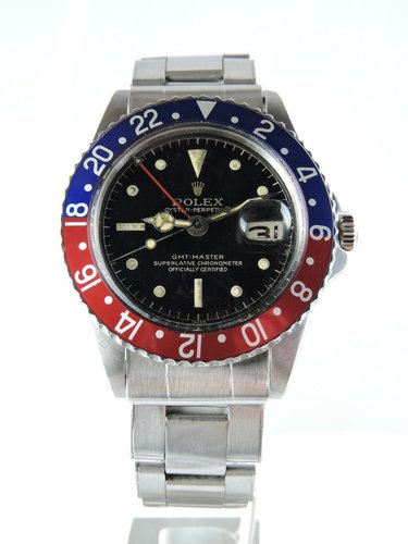 1960 Rolex GMT Master 1675 PCG, Gilt CR Dial