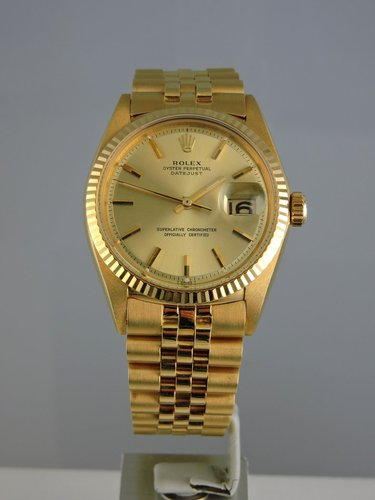 1968 Rolex Datejust 18k Yellow Gold - Box & Papers