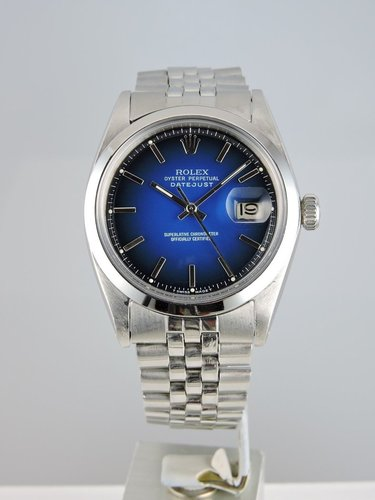 1967 Rolex Datejust 1601 Blue Dial - serviced