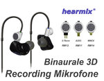 Binaurale 3D Recording In-Ear Kabel