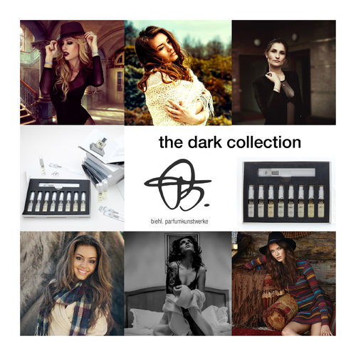 sample set 'dark collection' with 6 x 2ml perfume samples
