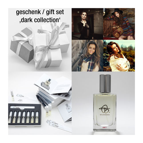 gift set 'dark collection': sample set & gift card for 100ml perfume
