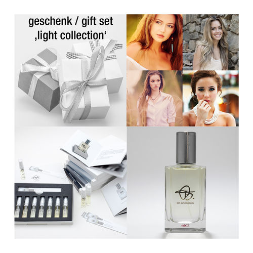 gift set 'light collection': sample set & gift card for 100ml perfume