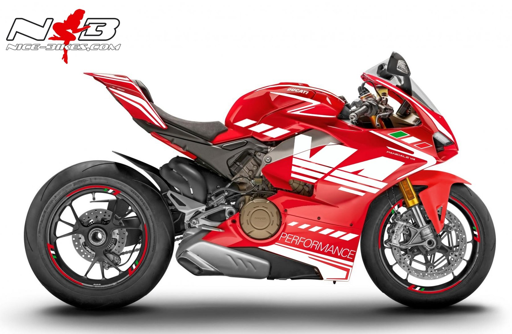 Panigale V4 weiß-tricolor