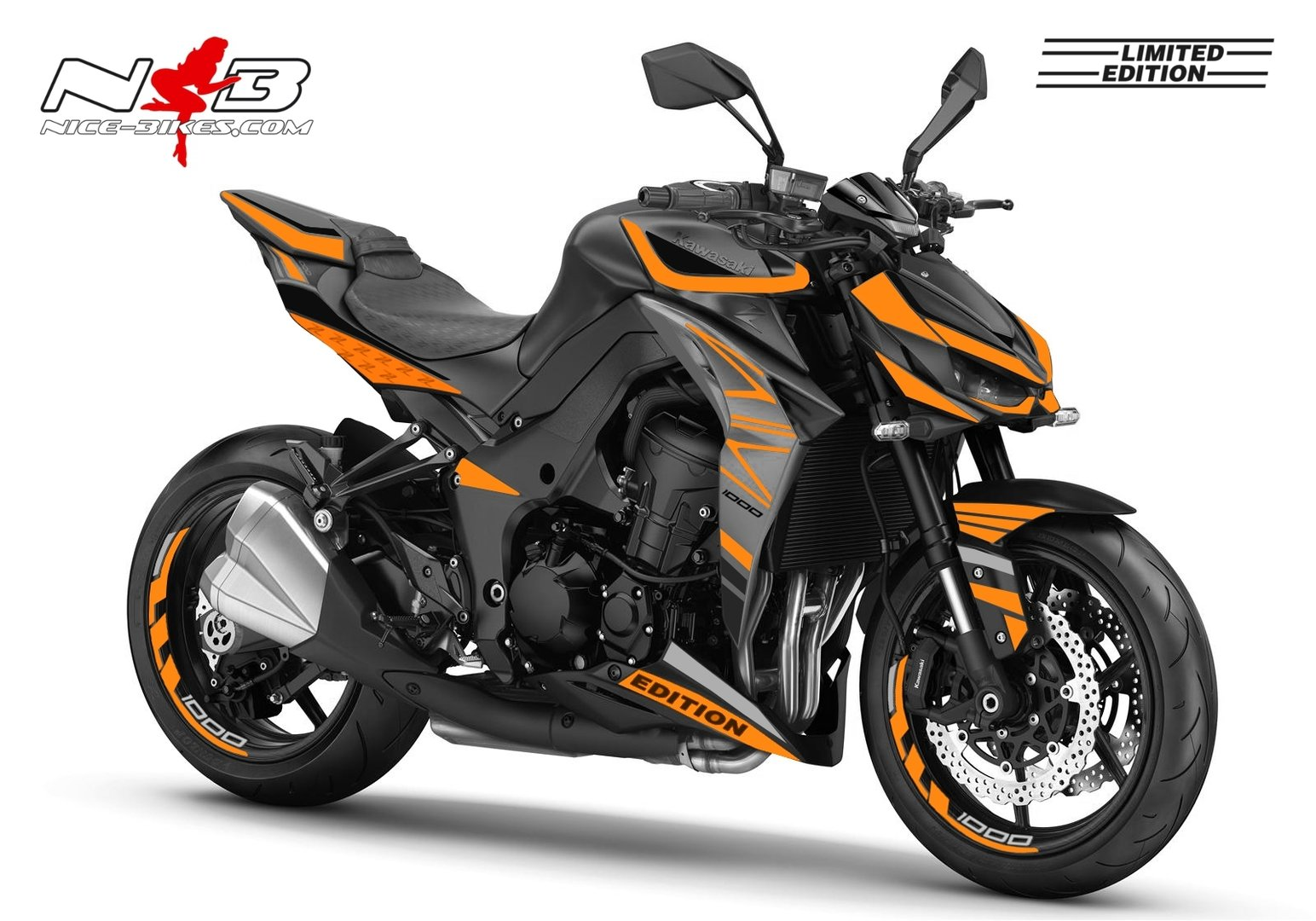 Z1000 schwarz / orange 2019