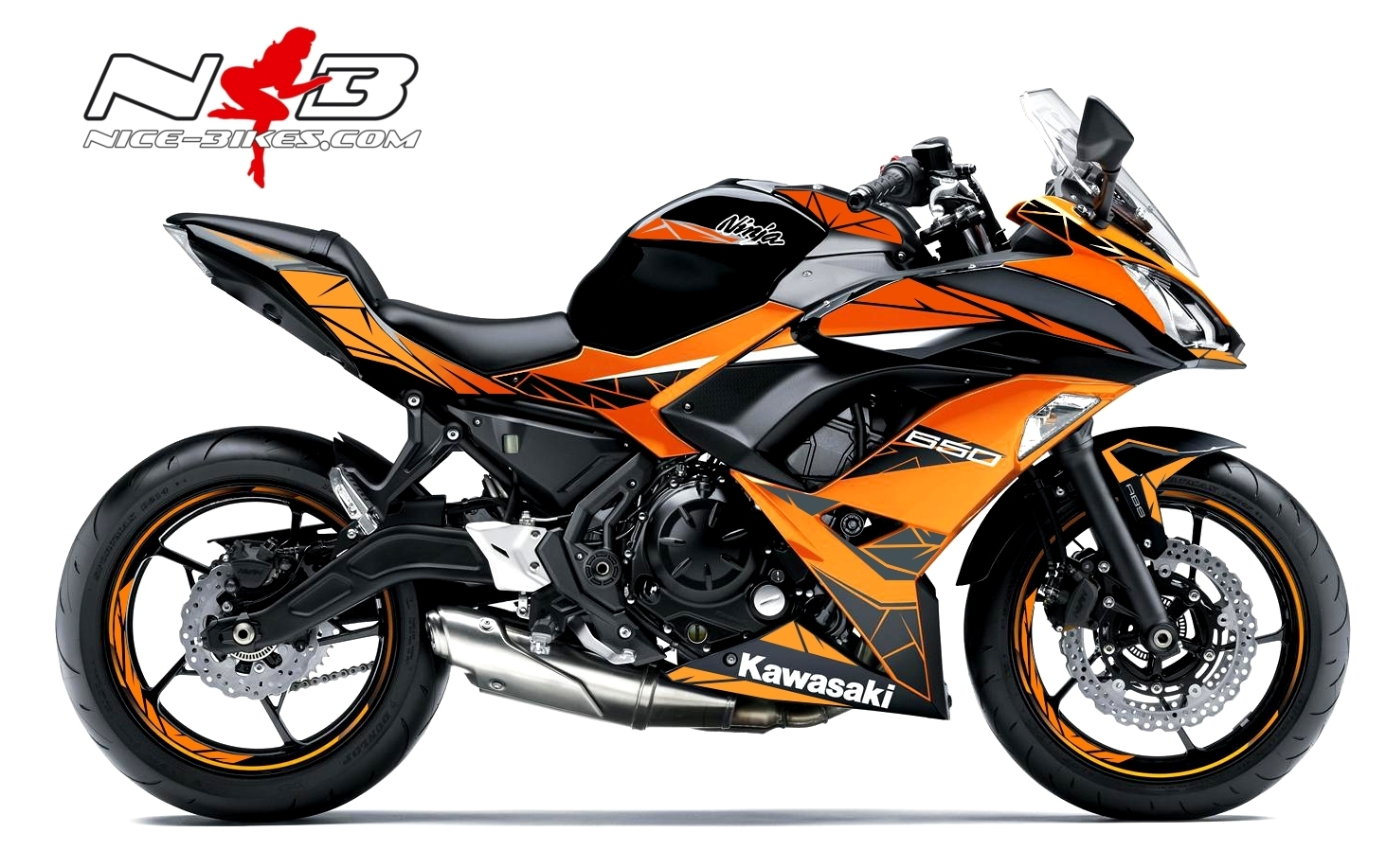 Ninja 650 Special Edition Orange für schwarze Maschine