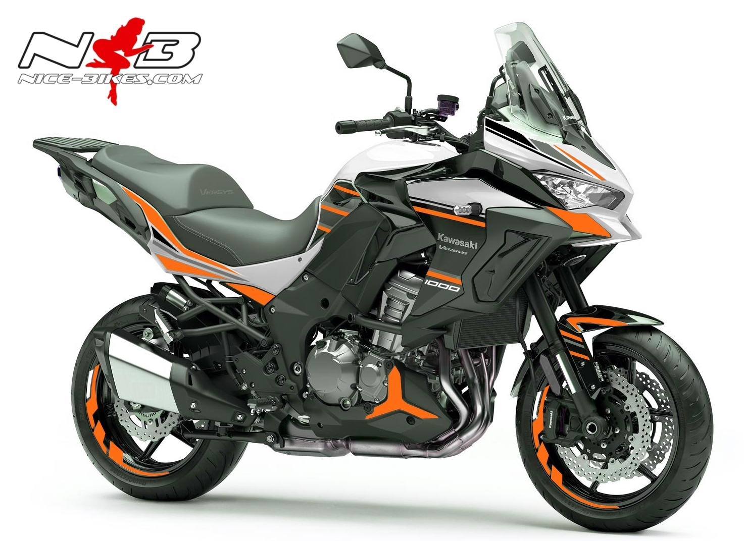 Versys 1000 weiß orange