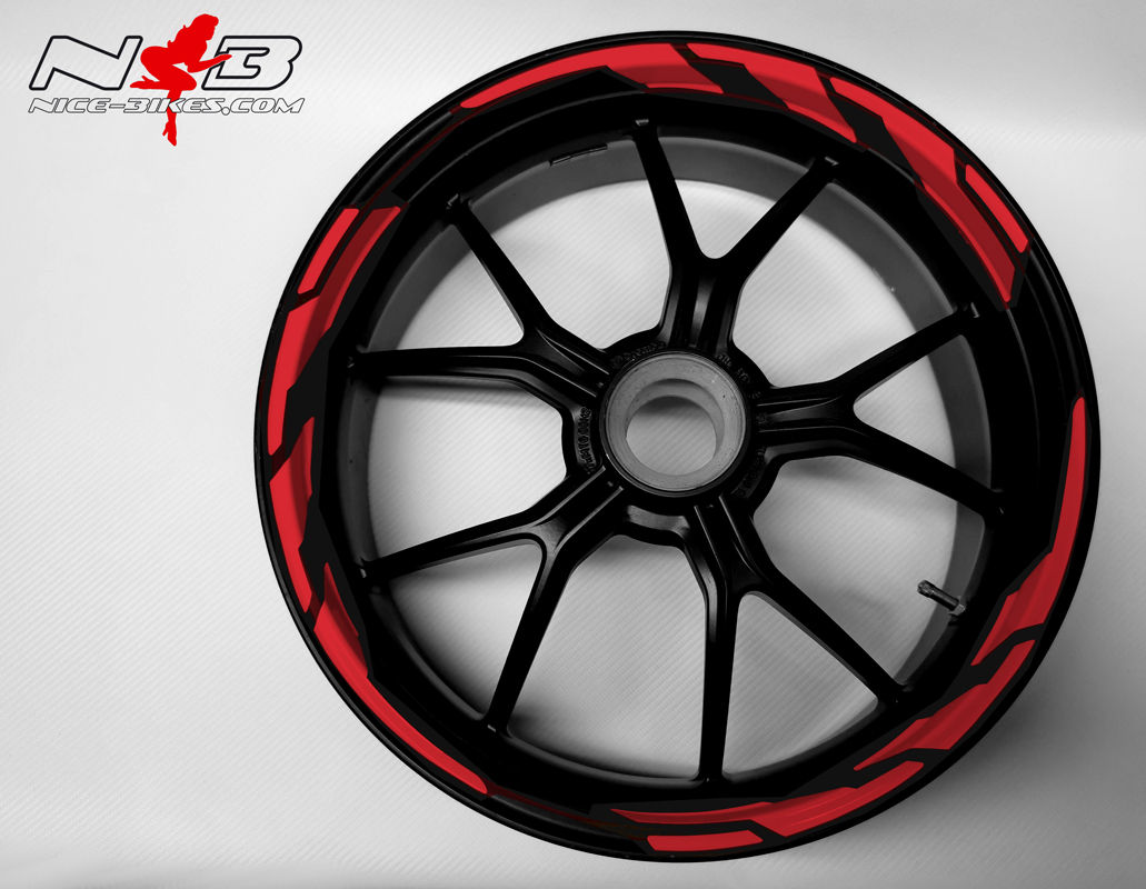 Speed Felgendekor Racing Red