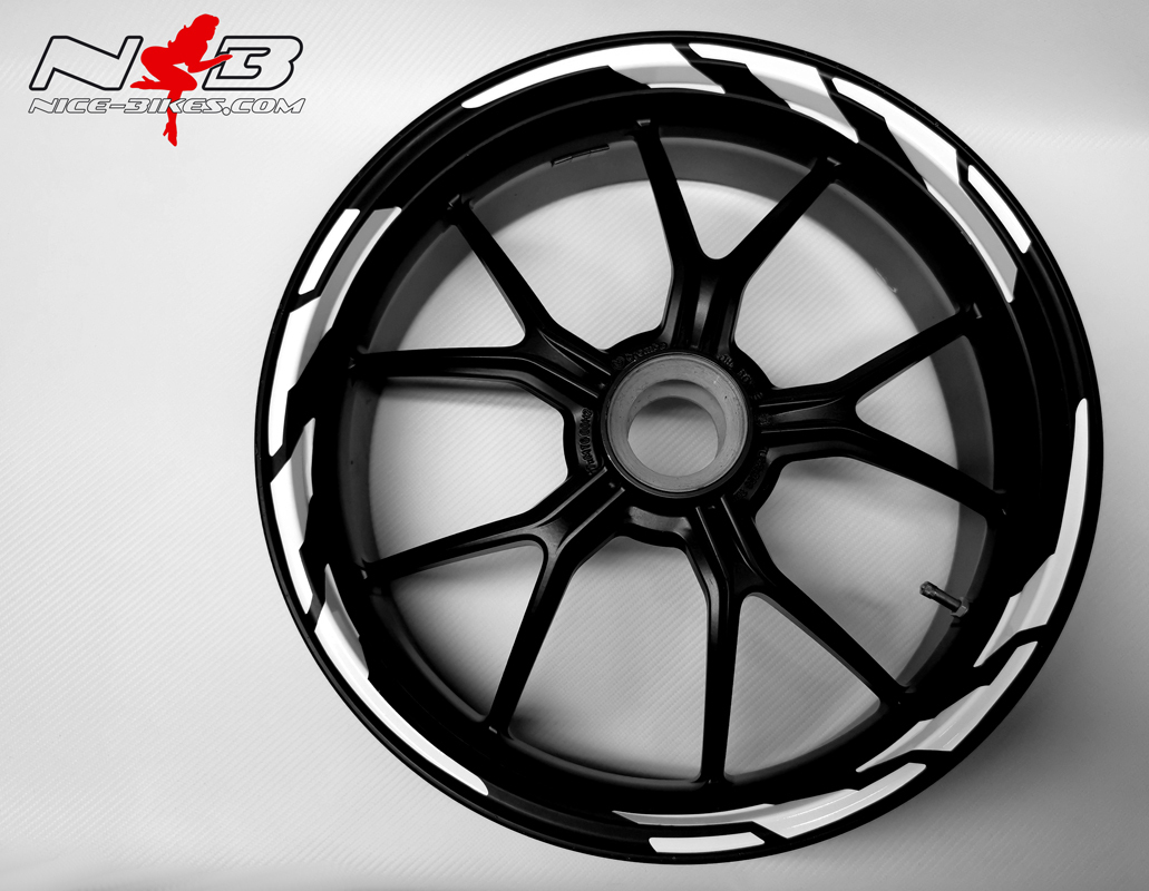 Speed Felgendekor Racing White