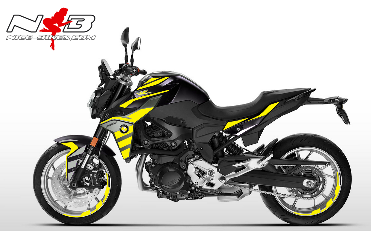 Foliendesign BMW F900 R Hornet Yellow