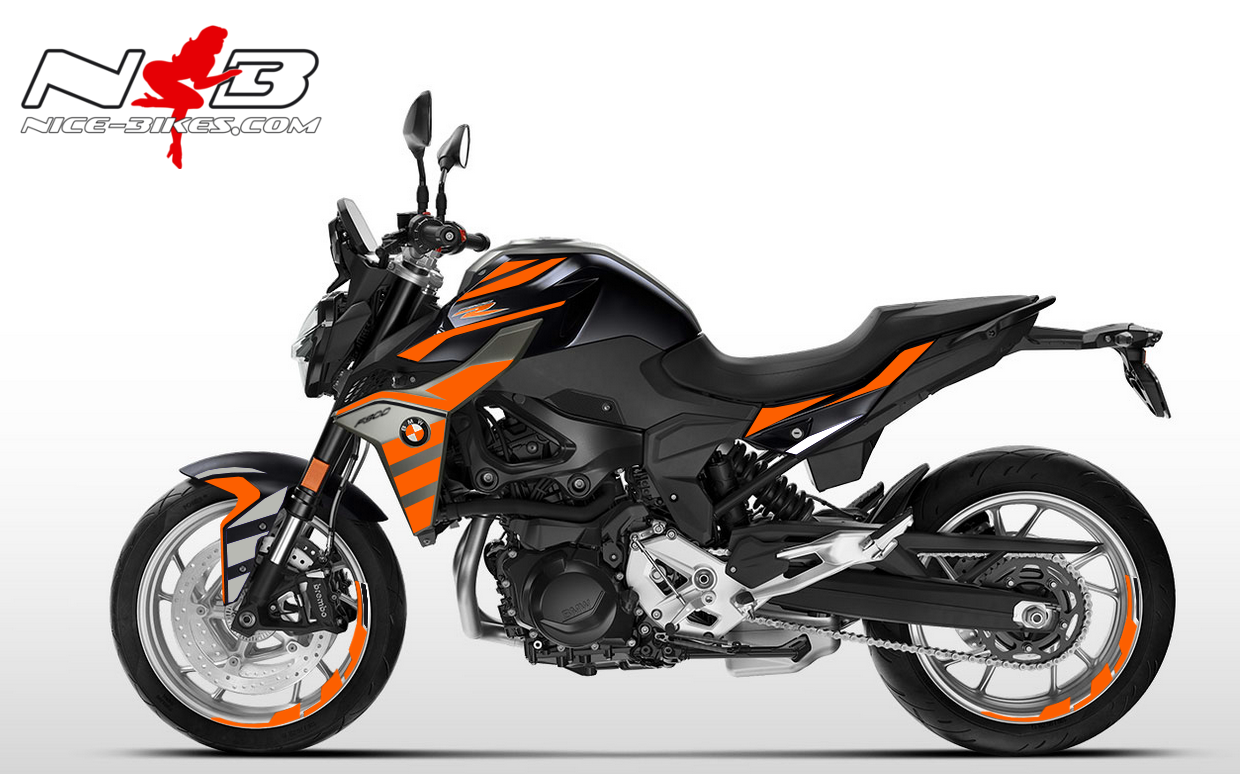 Foliendesign BMW F900 R Evil Orange