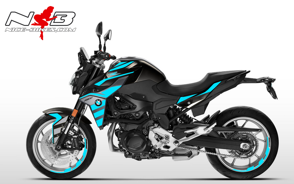Foliendesign BMW F900 R Light Blue