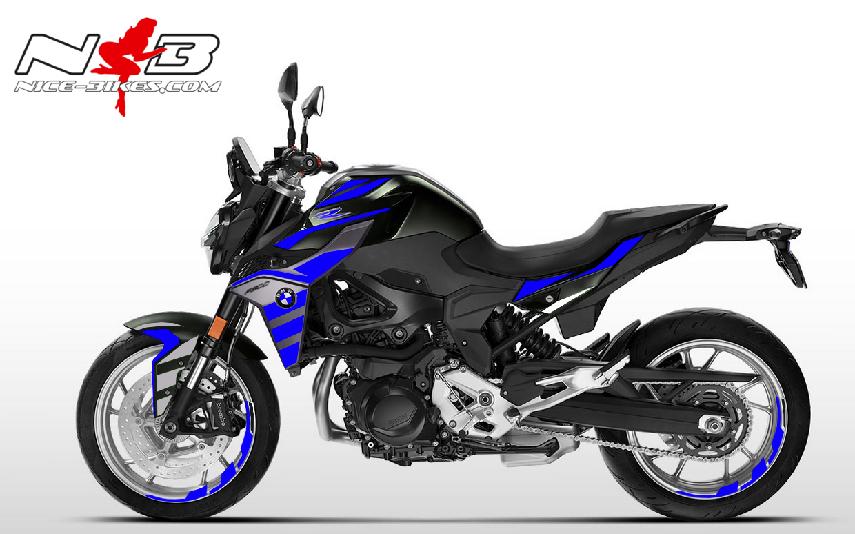 Foliendesign BMW F900 R Racing Blue