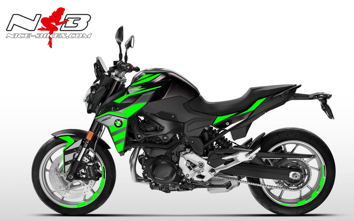 Foliendesign BMW F900 R Lime-Green