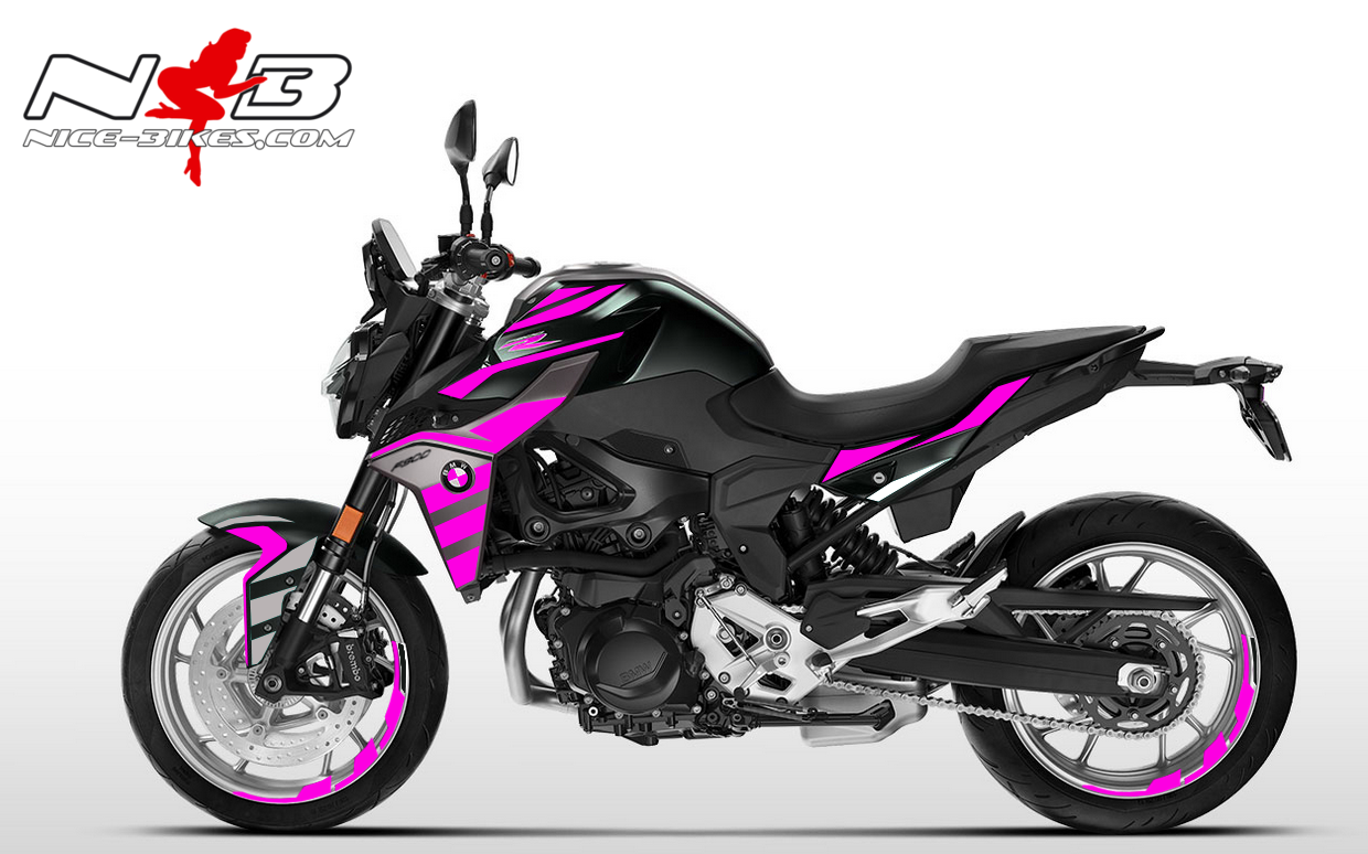 Foliendesign BMW F900 R Pretty Pink