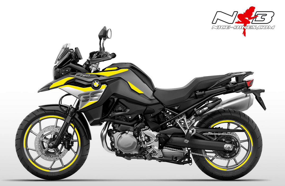 Foliendesign F750GS Hornet Yellow