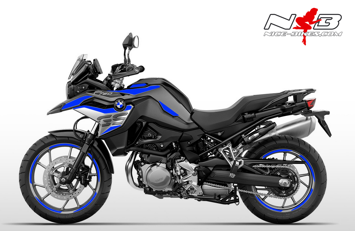 Foliendesign F750GS Racing Blue