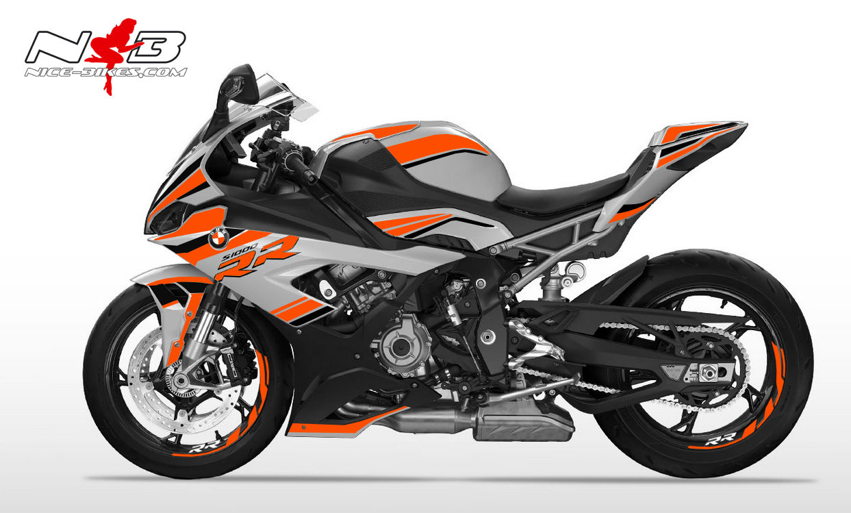 Foliendesign S1000RR (Bj. 2020) Evil Orange