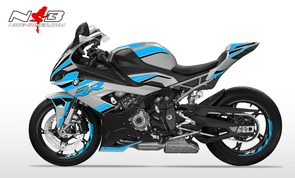 Foliendesign S1000RR (Bj. 2020) Light Blue