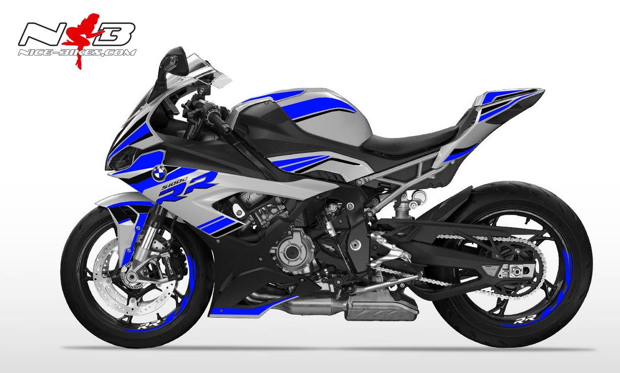 Foliendesign S1000RR (Bj. 2020) Racing Blue