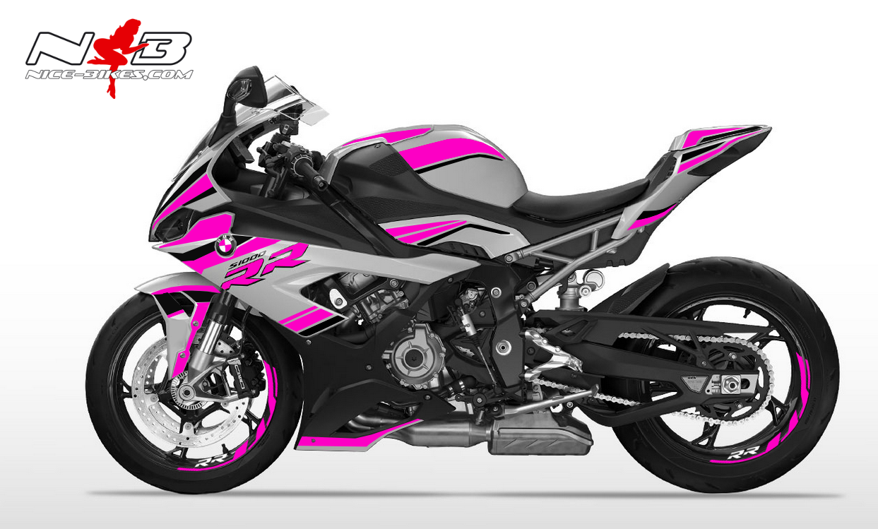 Foliendesign S1000RR (Bj. 2020) Pretty Pink