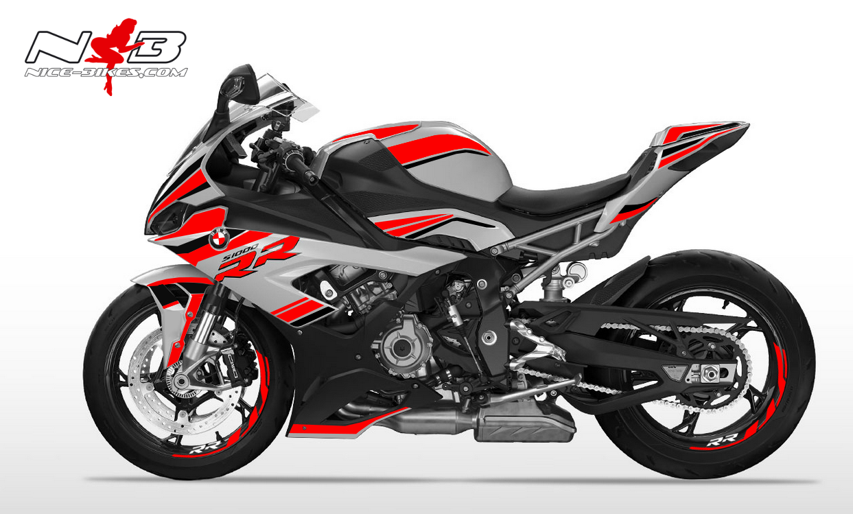 Foliendesign S1000RR (Bj. 2020) Racing Red