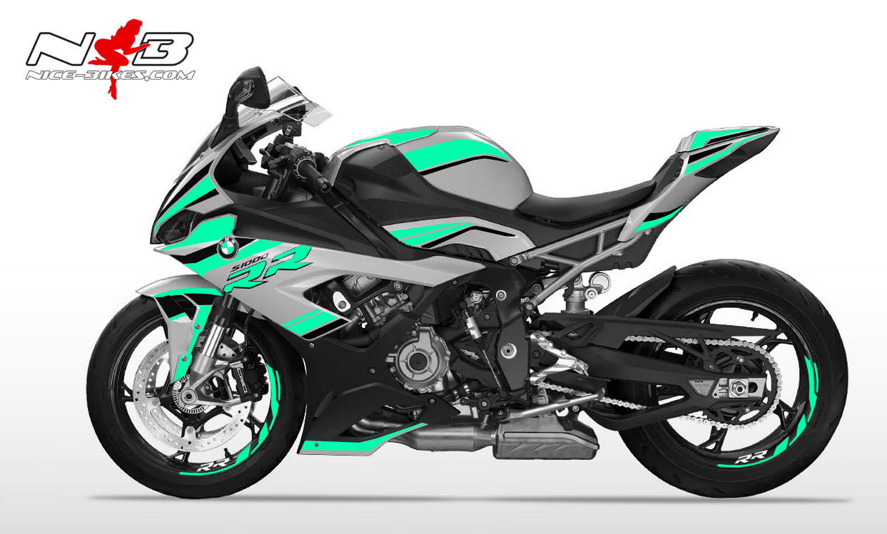 Foliendesign S1000RR (Bj. 2020) Mint Blue