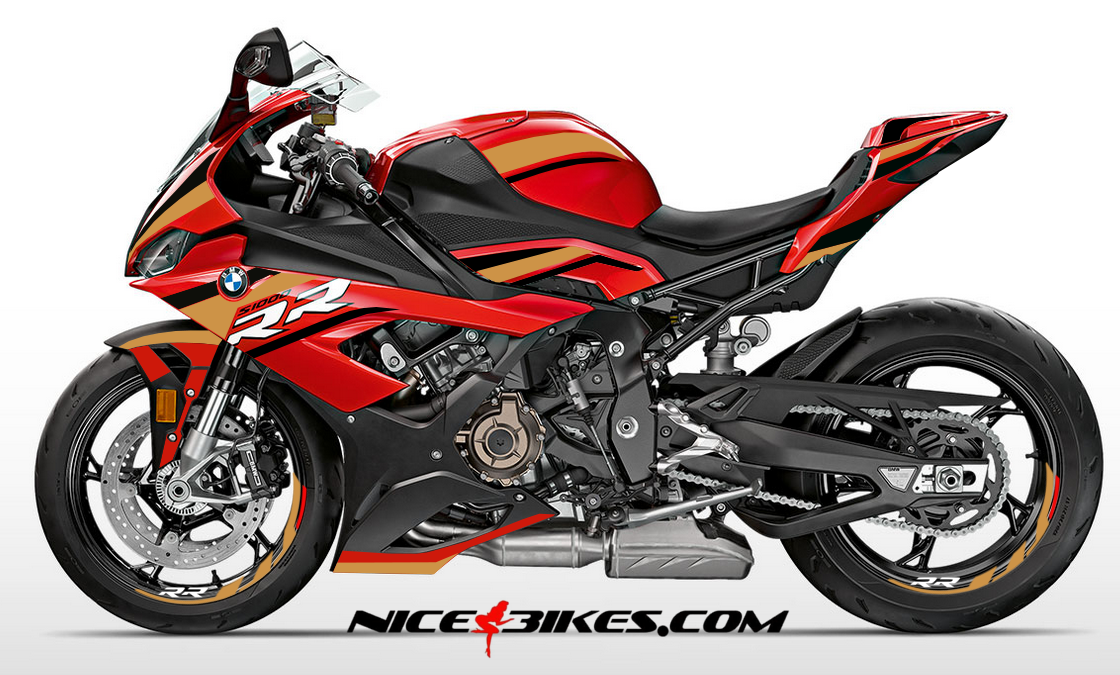 Foliendesign S1000RR (Bj. 2020) Red Olympic Gold