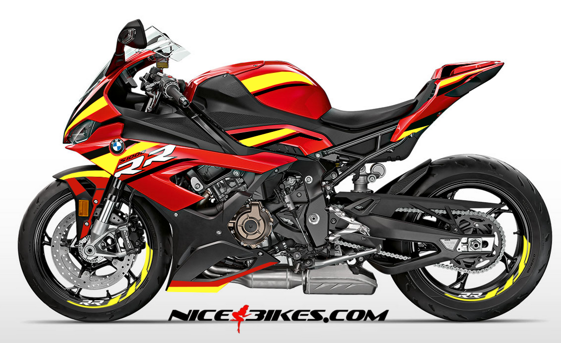 Foliendesign S1000RR (Bj. 2020) Neon Yellow