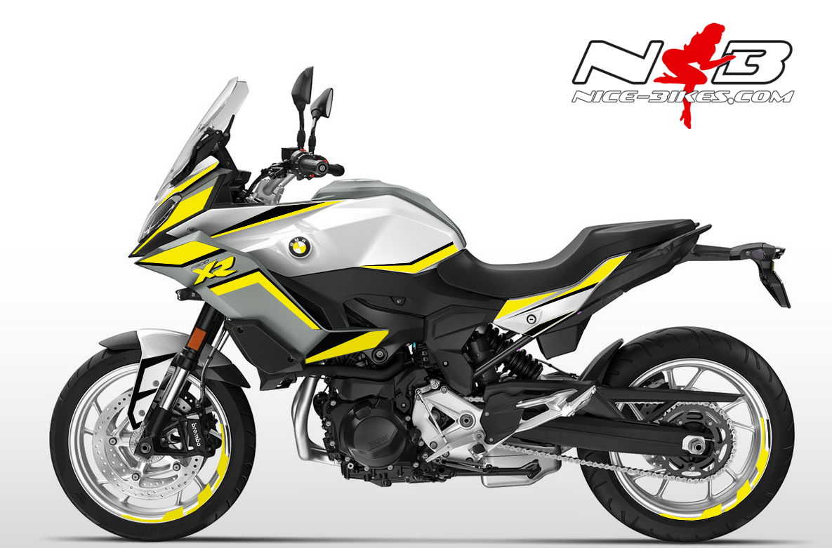 Foliendesign BMW F900 XR Hornet Yellow
