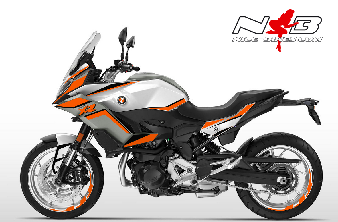 Foliendesign BMW F900 XR Evil Orange