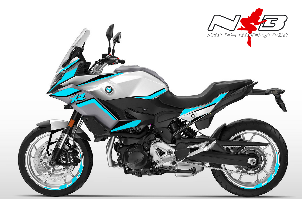 Foliendesign BMW F900 XR Light Blue