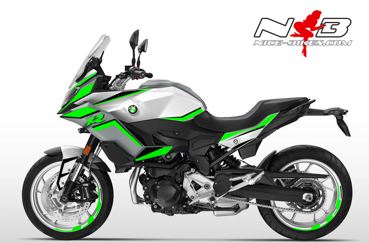 Foliendesign BMW F900 XR Lime-Green